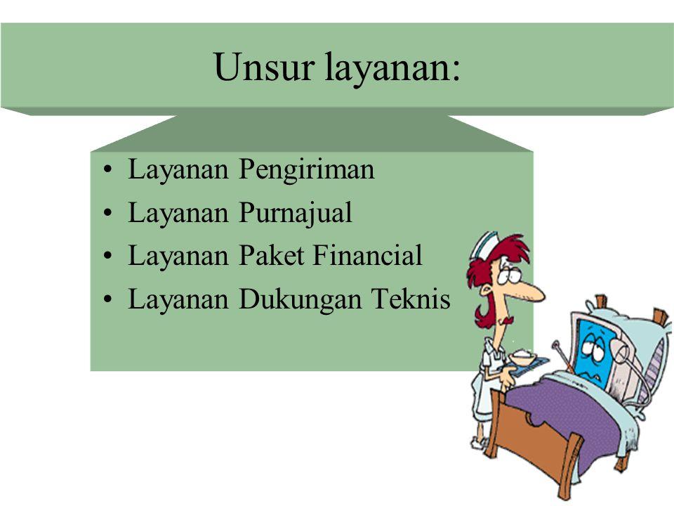 Unsur layanan: Layanan Pengiriman Layanan Purnajual