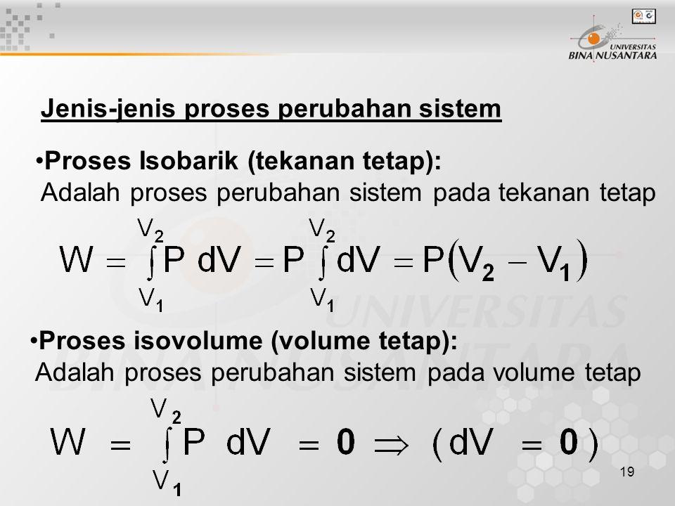 Jenis-jenis proses perubahan sistem