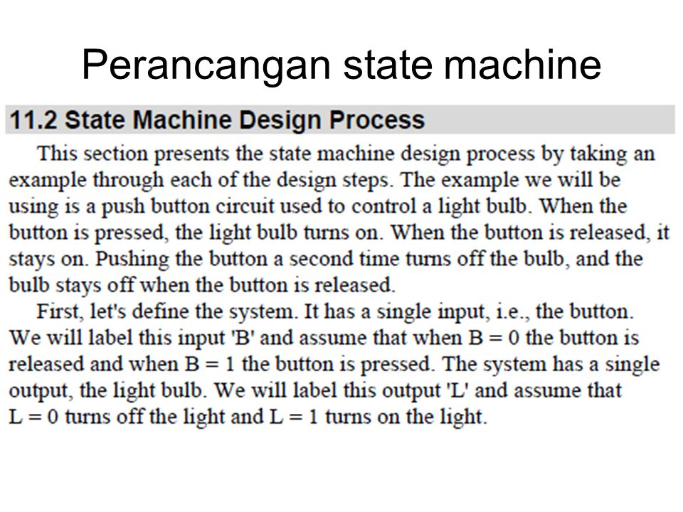 Perancangan state machine