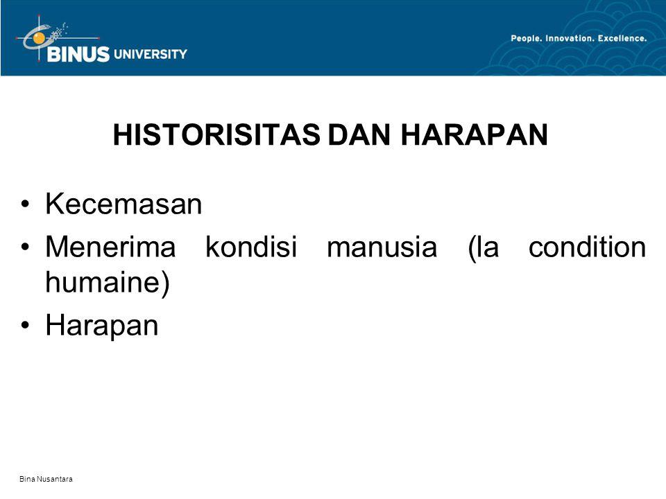 HISTORISITAS DAN HARAPAN