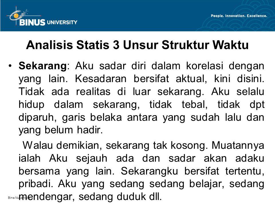 Analisis Statis 3 Unsur Struktur Waktu