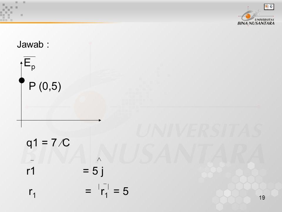 Jawab : Ep P (0,5) q1 = 7 C  r1 = r1 = 5 r1 = 5 j