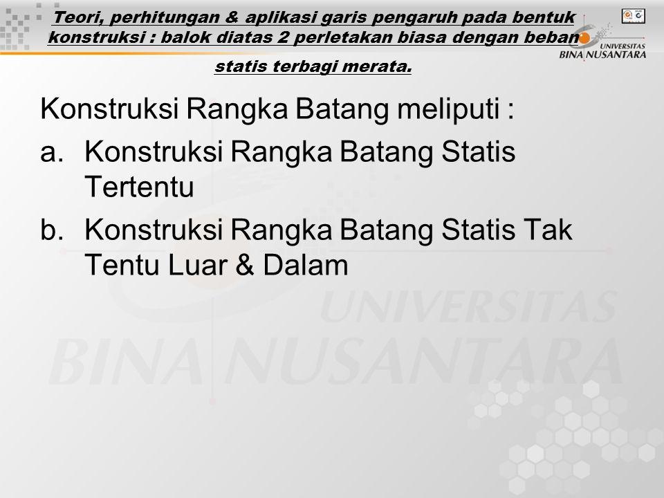 Konstruksi Rangka Batang meliputi :