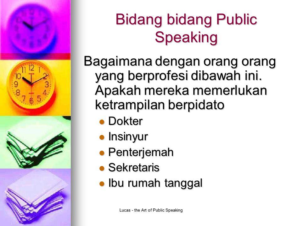 Bidang bidang Public Speaking
