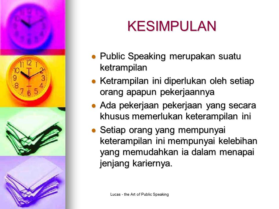 Lucas - the Art of Public Speaking