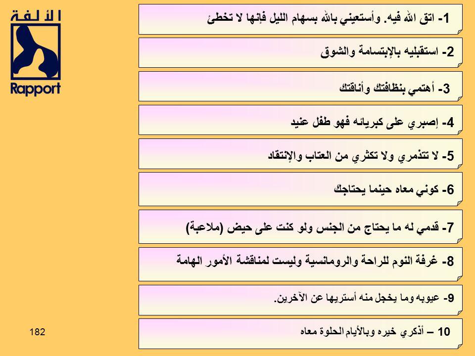 1- اتق الله فيه. وأستعيني بالله بسهام الليل فإنها لا تخطئ