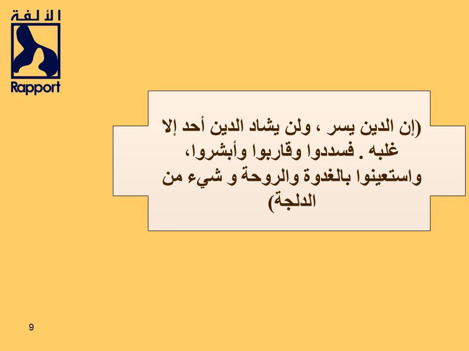 (إن الدين يسر ، ولن يشاد الدين أحد إلا غلبه
