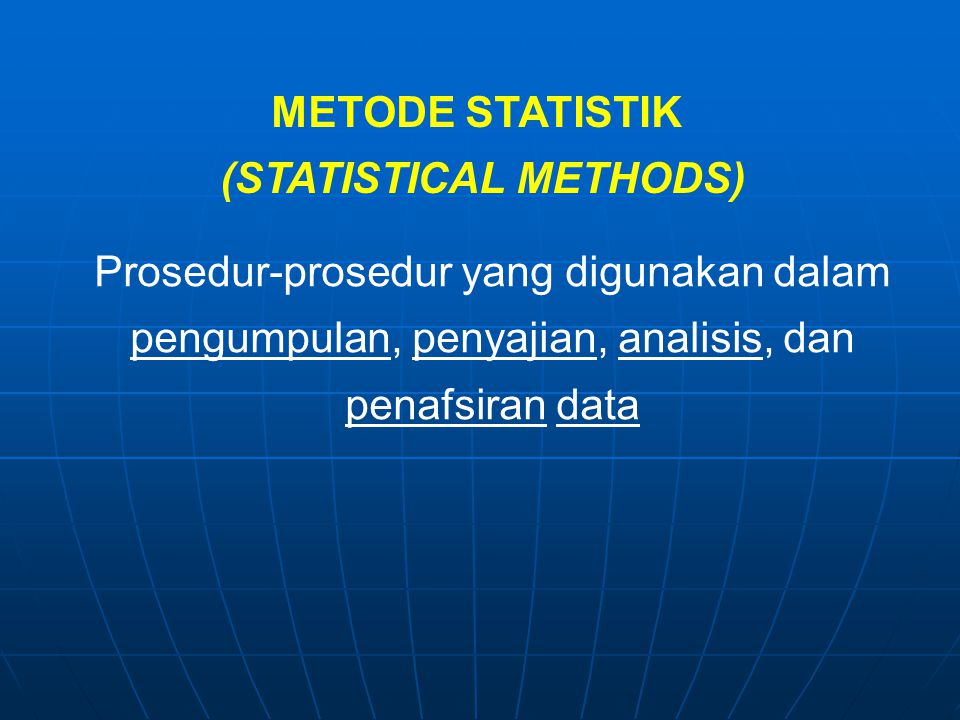 (STATISTICAL METHODS)