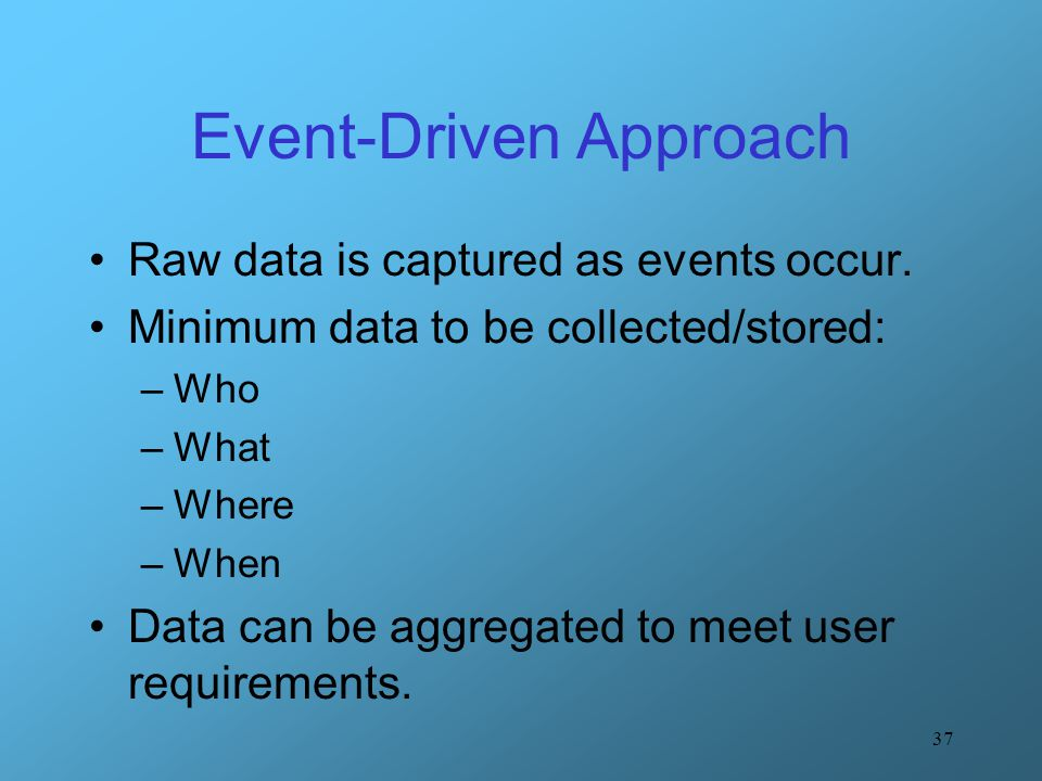 Event-Driven Approach