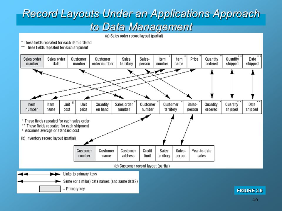 Record Layouts Under an Applications Approach to Data Management