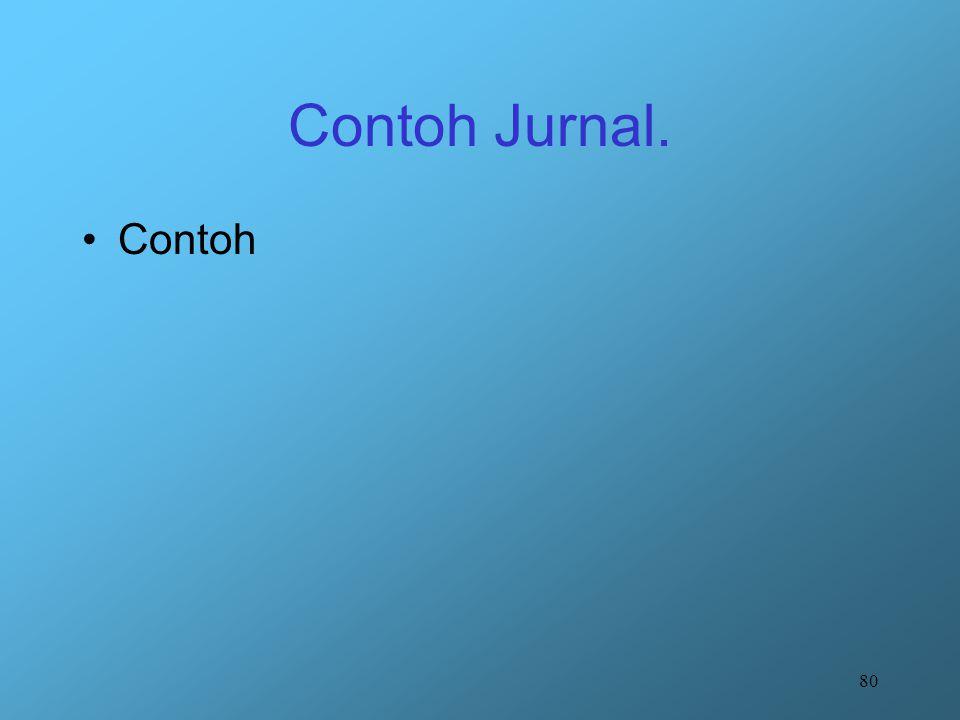 Contoh Jurnal. Contoh