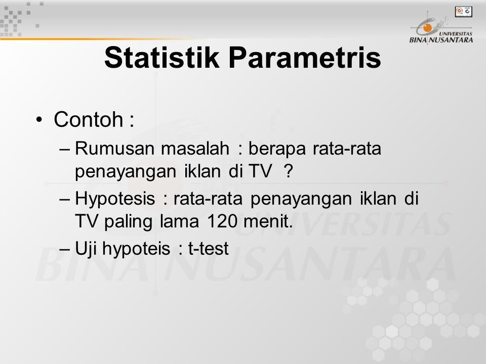 Statistik Parametris Contoh :