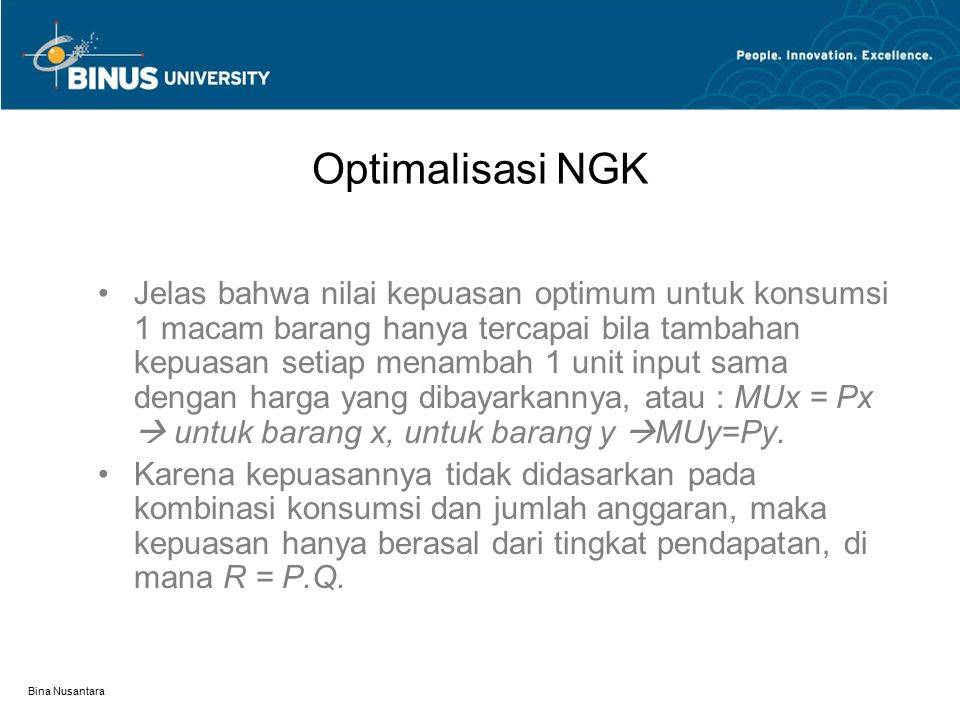 Optimalisasi NGK