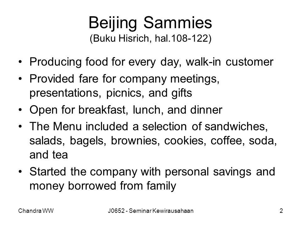 Beijing Sammies (Buku Hisrich, hal.108-122)