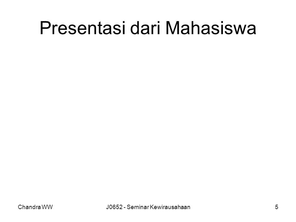 Presentasi dari Mahasiswa