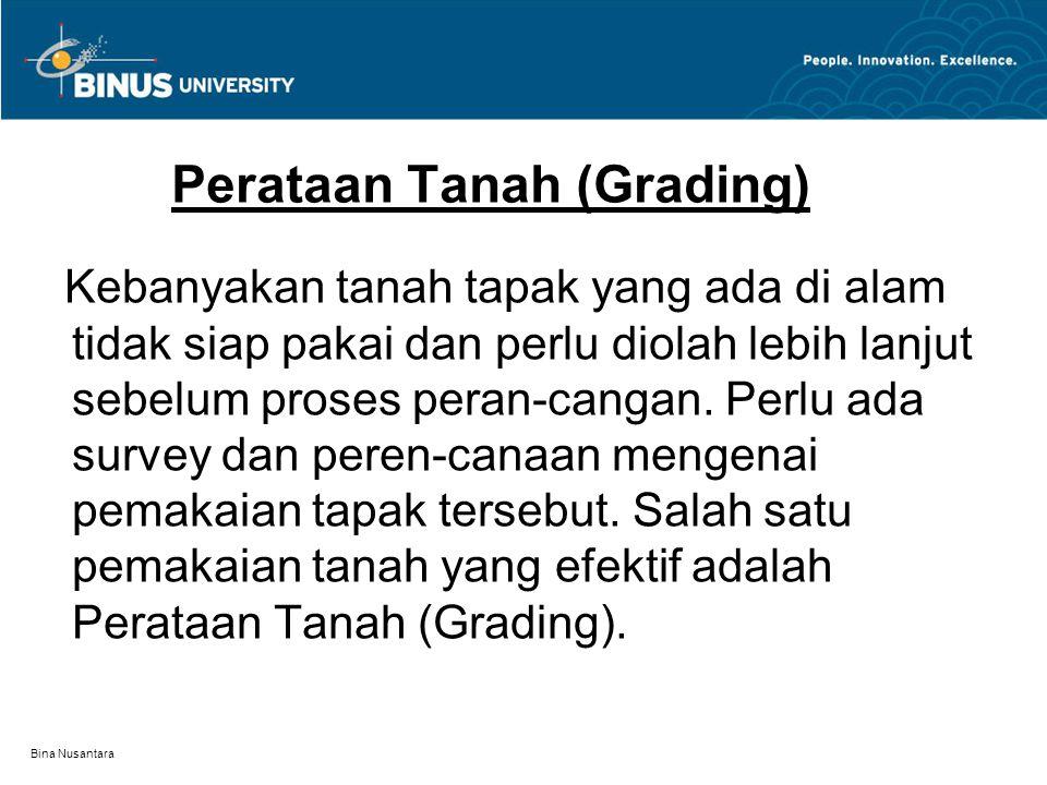 Perataan Tanah (Grading)