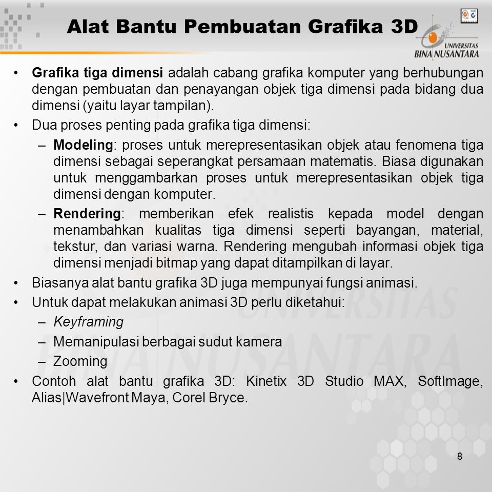 Alat Bantu Pembuatan Grafika 3D