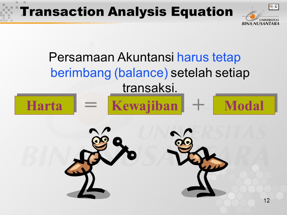 Transaction Analysis Equation