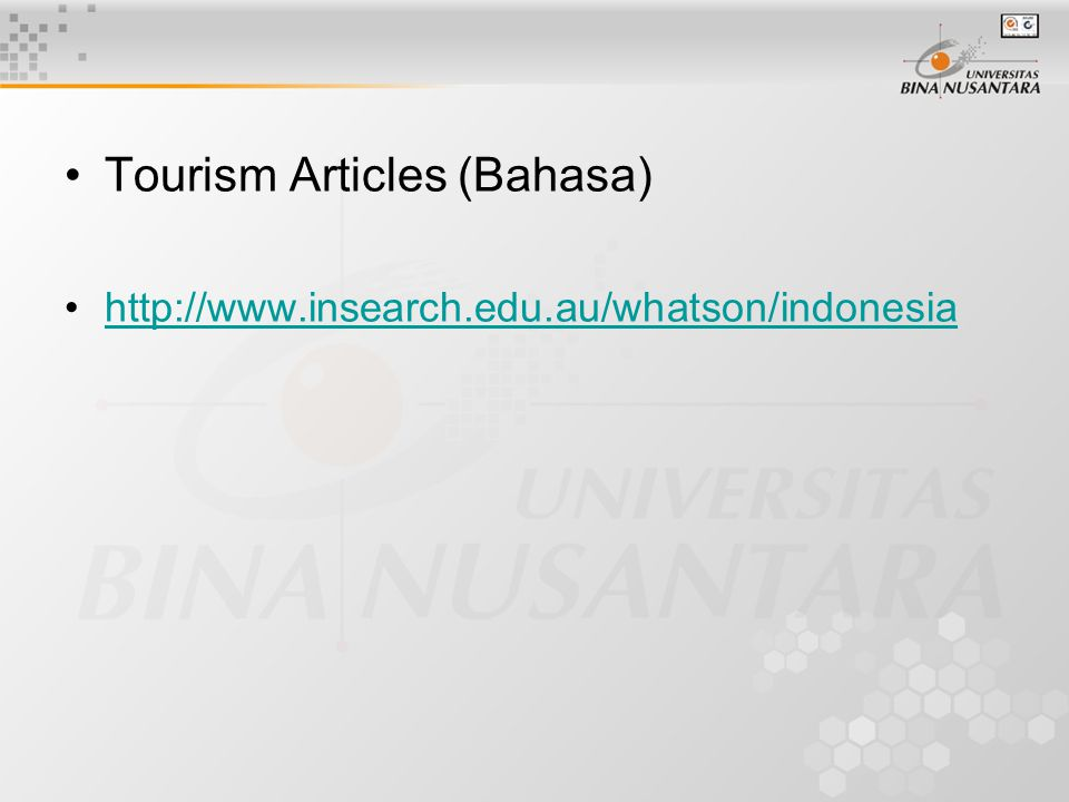 Tourism Articles (Bahasa)