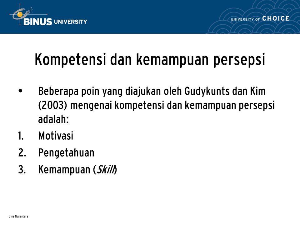 Kompetensi dan kemampuan persepsi