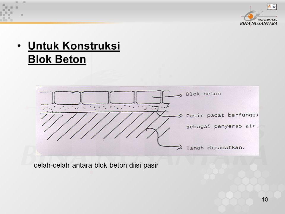 Untuk Konstruksi Blok Beton