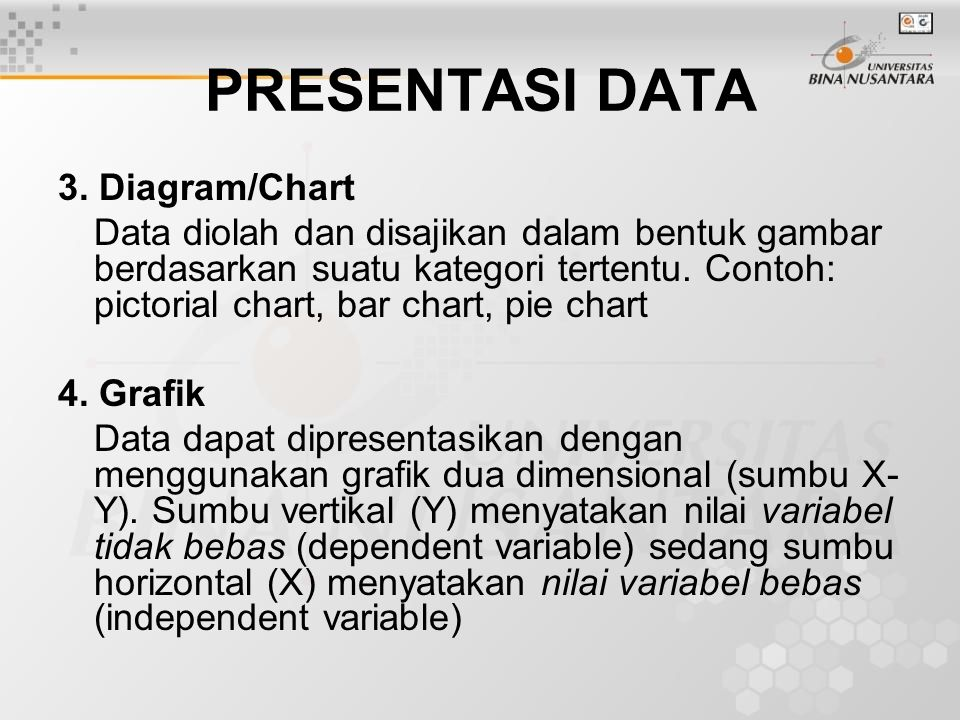 PRESENTASI DATA 3. Diagram/Chart