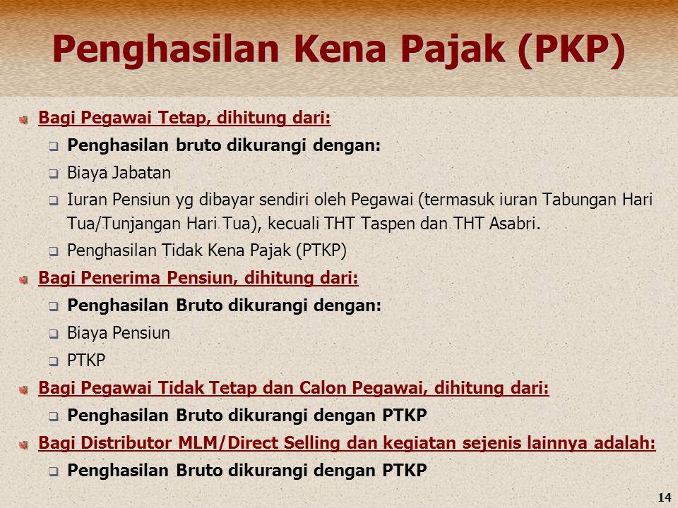 Penghasilan Kena Pajak (PKP)