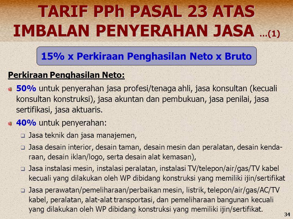 TARIF PPh PASAL 23 ATAS IMBALAN PENYERAHAN JASA …(1)