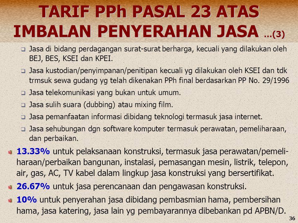 TARIF PPh PASAL 23 ATAS IMBALAN PENYERAHAN JASA …(3)