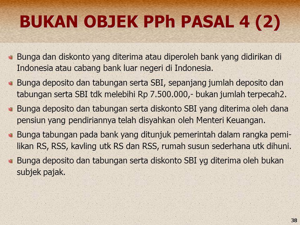 BUKAN OBJEK PPh PASAL 4 (2)