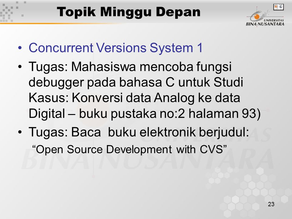 Concurrent Versions System 1