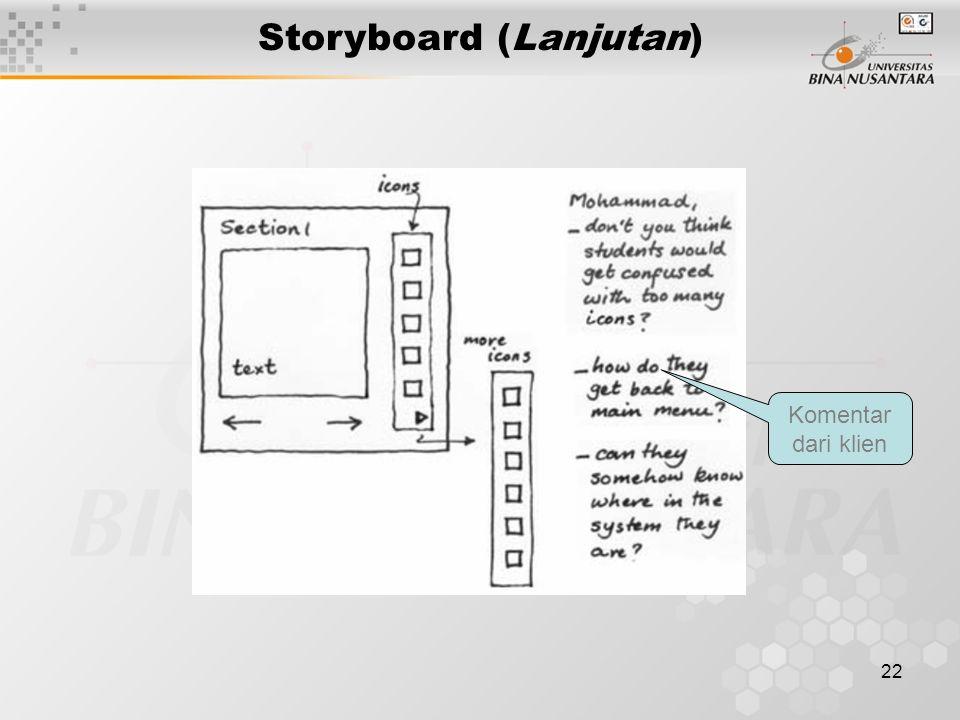 Storyboard (Lanjutan)