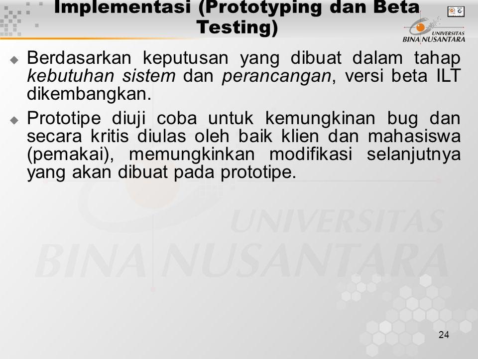Implementasi (Prototyping dan Beta Testing)