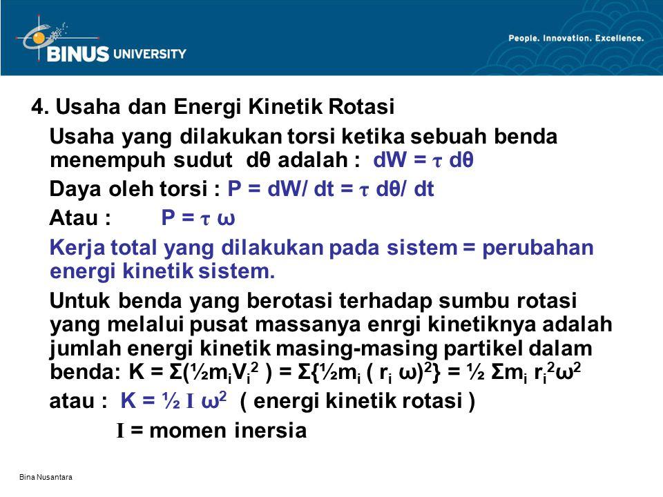 4. Usaha dan Energi Kinetik Rotasi