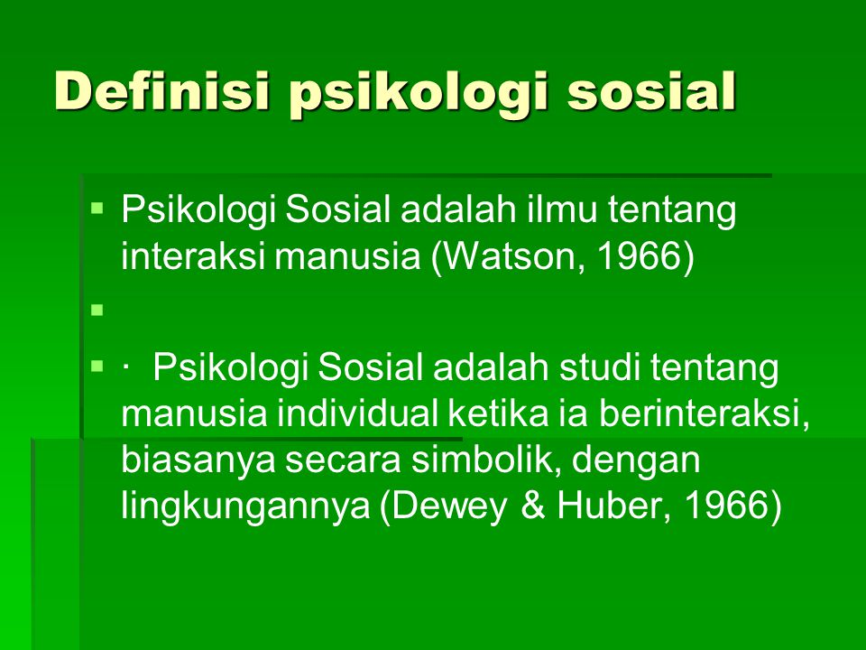 Definisi psikologi sosial