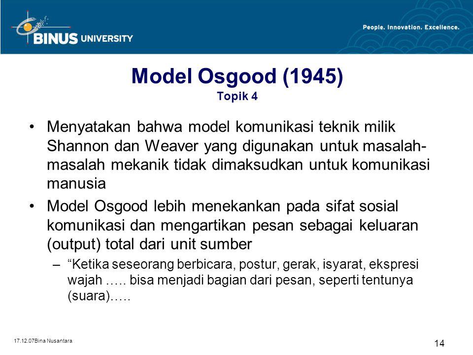 Model Osgood (1945) Topik 4