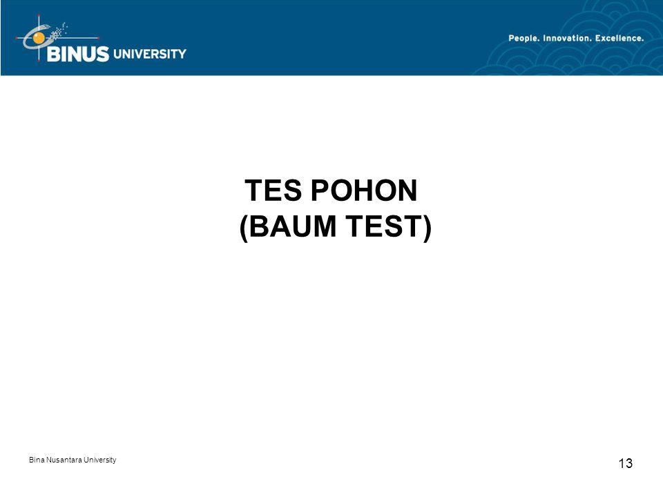TES POHON (BAUM TEST) Bina Nusantara University