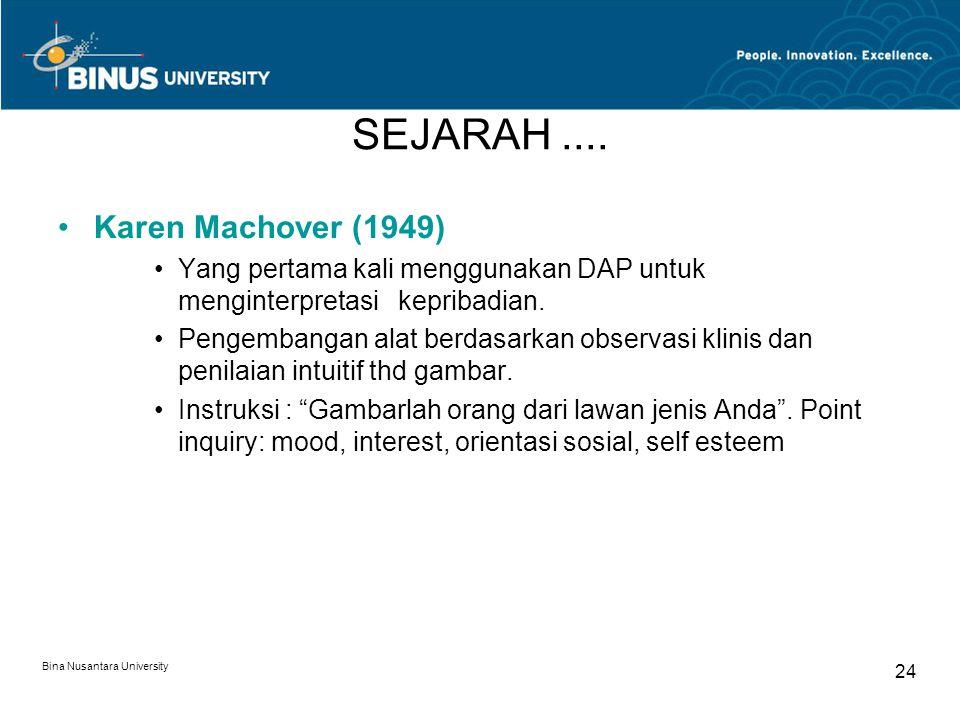 SEJARAH .... Karen Machover (1949)