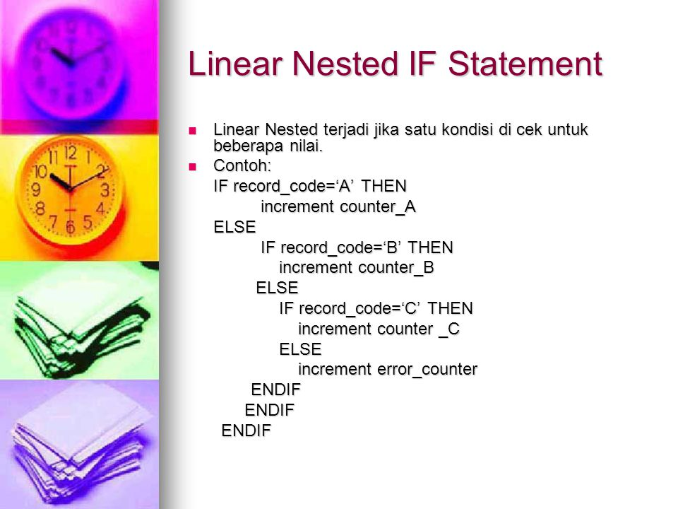 Linear Nested IF Statement