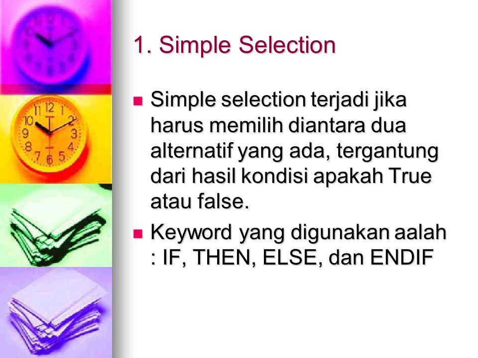1. Simple Selection