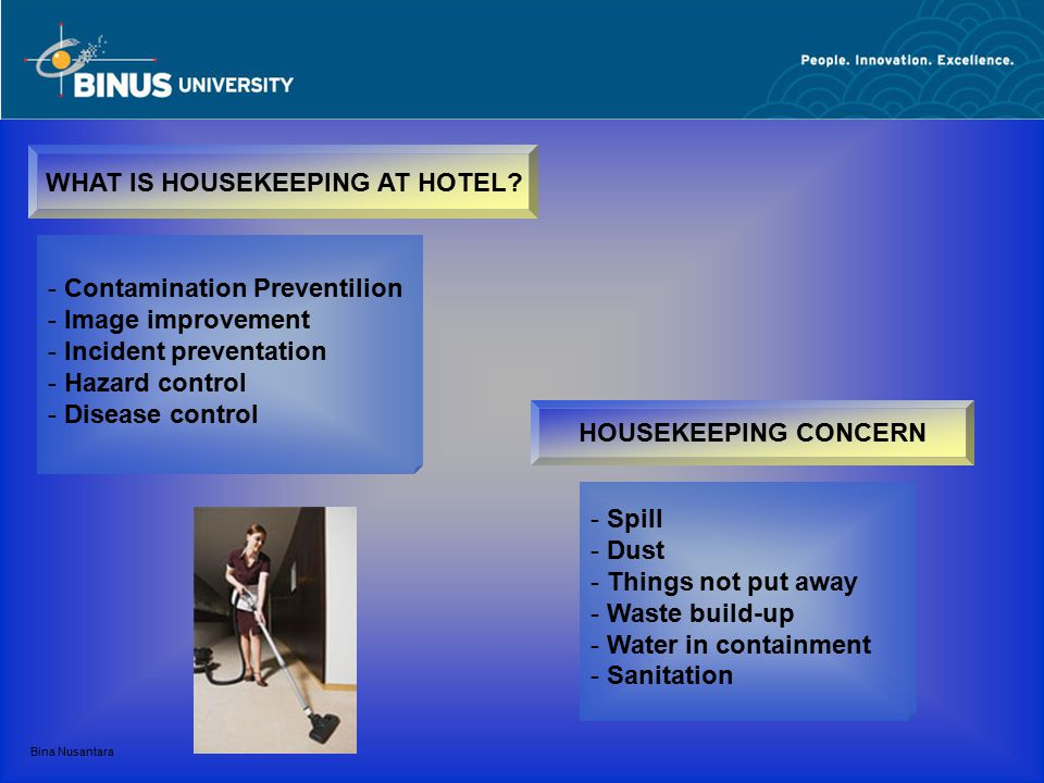 WHAT IS HOUSEKEEPING AT HOTEL