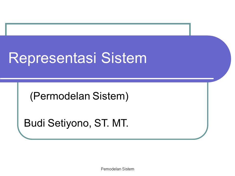 Representasi Sistem (Permodelan Sistem) Budi Setiyono, ST. MT.