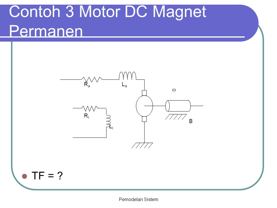 Contoh 3 Motor DC Magnet Permanen