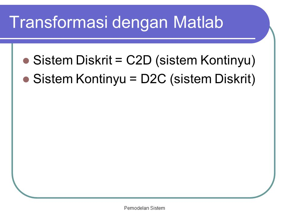 Transformasi dengan Matlab