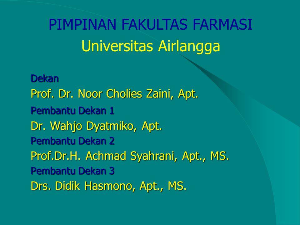 PIMPINAN FAKULTAS FARMASI Universitas Airlangga