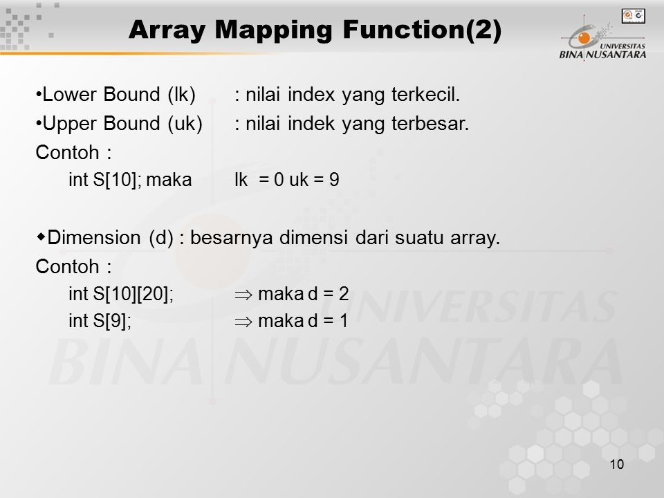 Array Mapping Function(2)