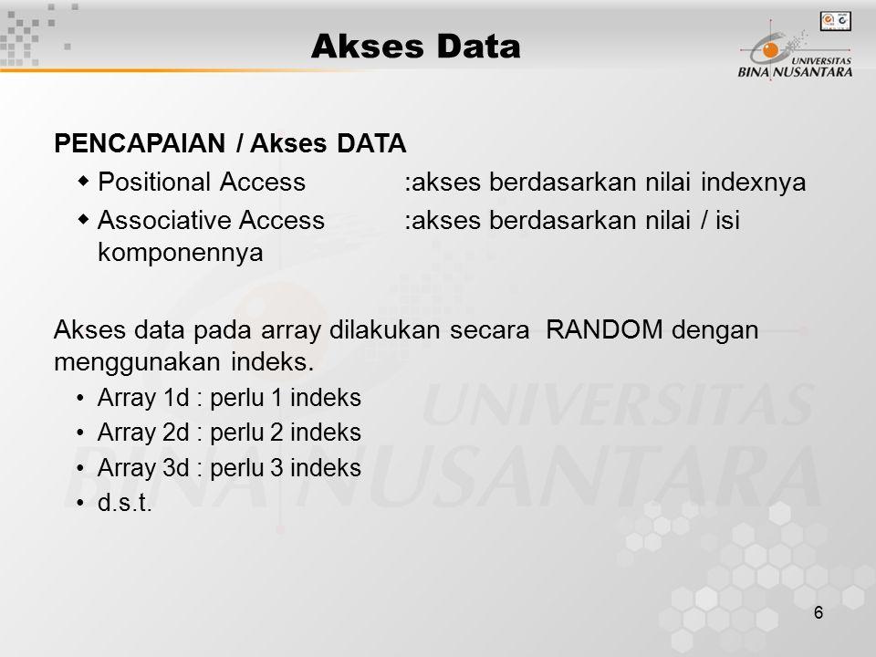 Akses Data PENCAPAIAN / Akses DATA