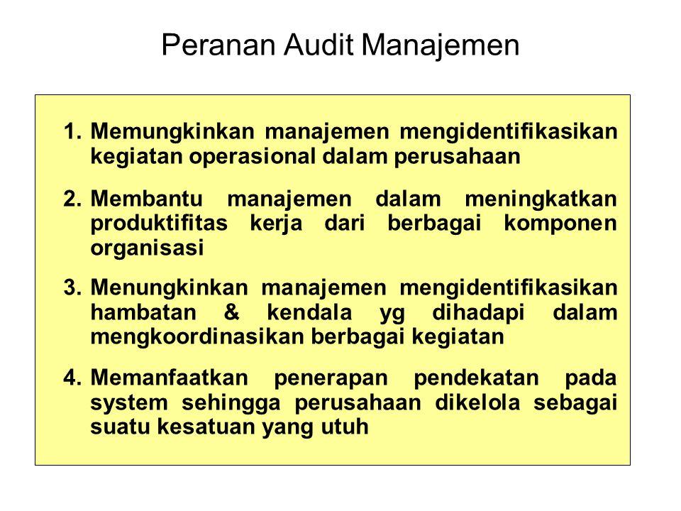 Peranan Audit Manajemen