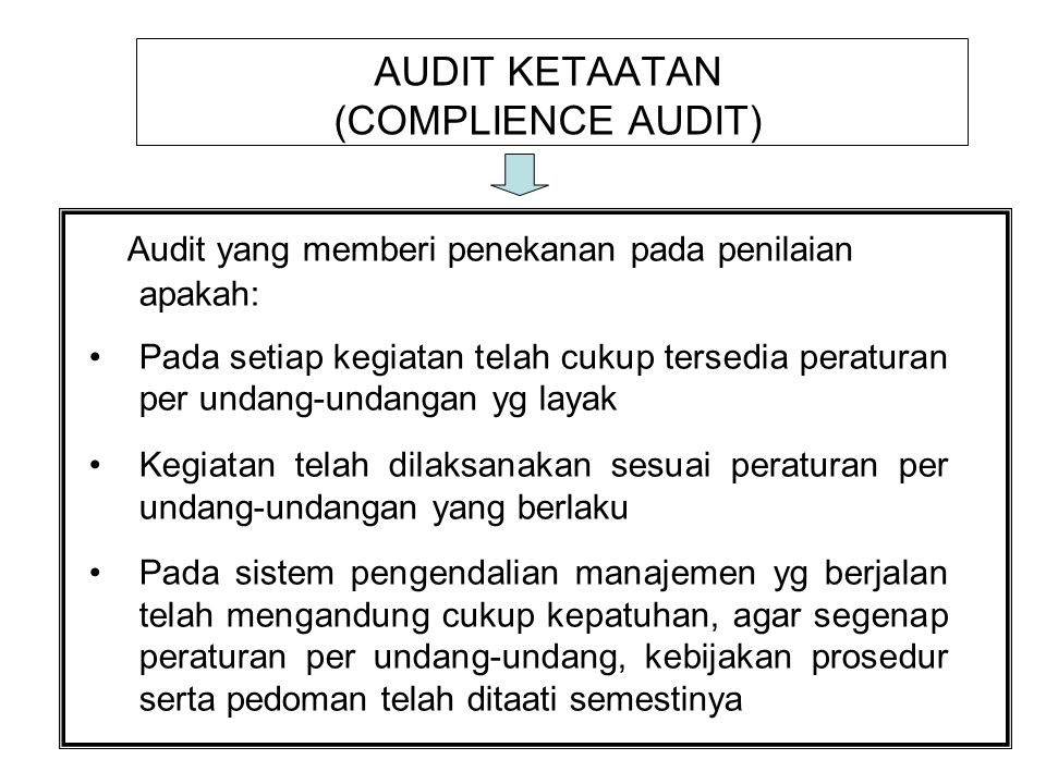 AUDIT KETAATAN (COMPLIENCE AUDIT)
