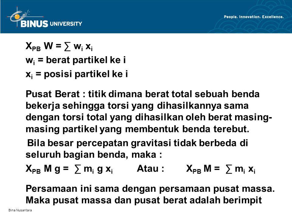 xi = posisi partikel ke i